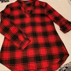 Tops - Red Plaid Top